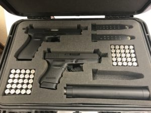 gun case precision foam cut-out